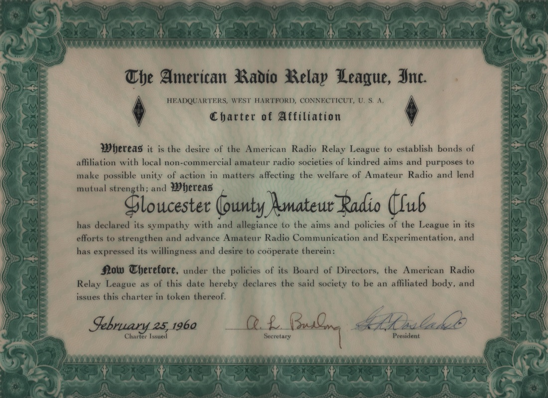 ARRL Club Affiliation Certificate
